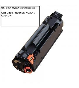 COMPATIBLE TONER OKI C301 CYAN / MAGENTA / YELLOW