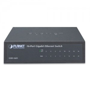 PLANET GSD-1603 16-Port Gigabit Ethernet Switch (Metal Case)
