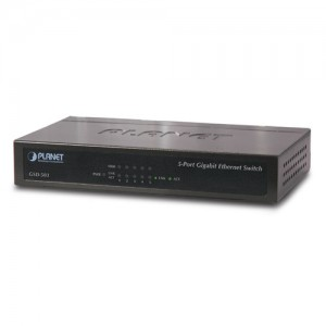 PLANET GSD-503 5-Port Gigabit Ethernet Switch (Met..
