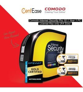 COMODO INTERNET SECURITY PRO8/10 - LICENSE CODE (A4 SIZE)