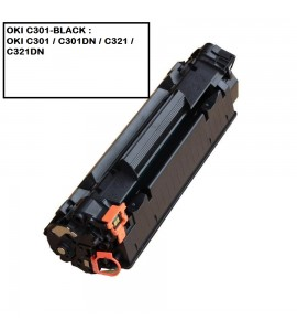 COMPATIBLE TONER OKI C301-BLACK