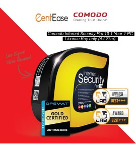 COMODO INTERNET SECURITY PRO8/10 - LICENSE CODE (A4 SIZE)